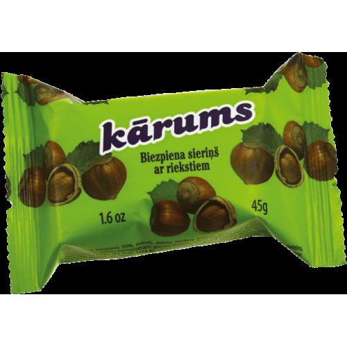 Сырок глазированный латвийский KARUMS с орехами, 45г