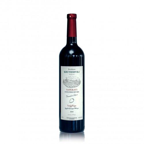 Georgian red dry wine Khutsishvili Saperavi Qvevri 2018