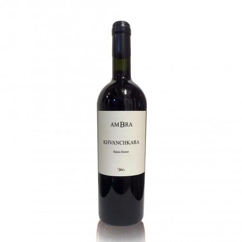 Грузинське червоне напівсолодке вино QvesheniChirime AMBRA Khvanchkara