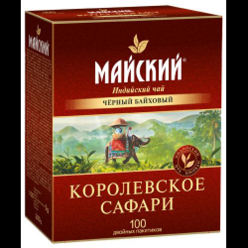 """Чай индийский """"Королевское сафари"""", 100 пакетиков по два грамма"""
