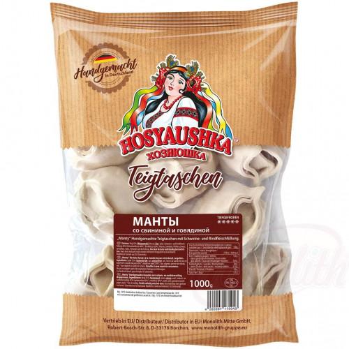 Манты Хозяюшка из свинины и говядины замороженные, 1кг