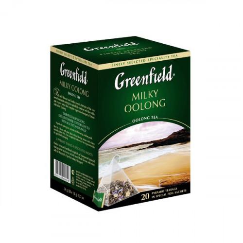 """Чай зеленый Greenfield """"Milky Oolong"""" в 20 пирамидках по 1.8г"""