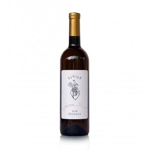 Грузинське помаранчеве сухе вино Qvevri Napheri Chinuri 2018