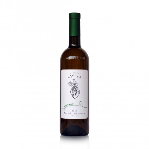 Georgian orange dry wine Qvevri Napheri Goruli Mtsvane 2019