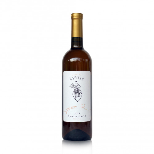 Georgian orange dry wine Qvevri Napheri Rkatsiteli 2019