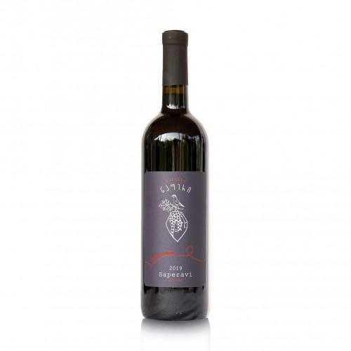 Georgian red dry wine Qvevri Napheri Saperavi 2019