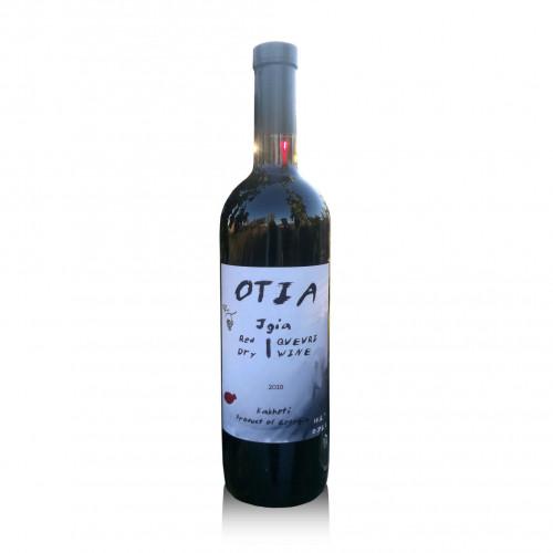 Грузинское красное сухое вино OTIA Jgia 2018 Qvevri