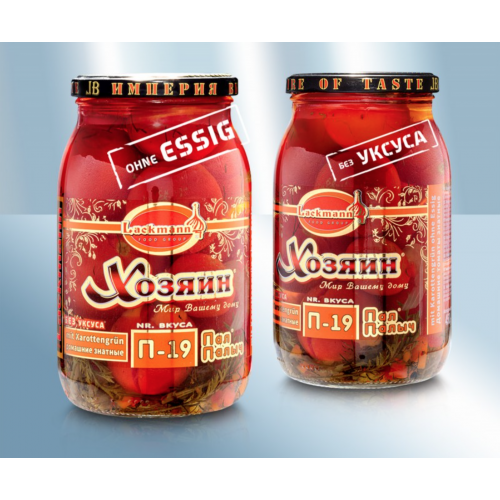 Canned tomatoes Lackmann with carrot greens without vinegar, 900ml