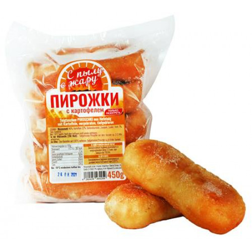 """Fried pies with potatoes """"From the heat"""" frozen, 450g"""