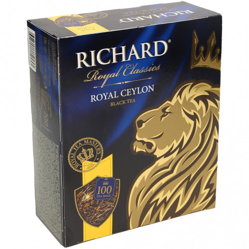"Ceylon tea ""Richard Royal Ceylon"" 100 tea bags"