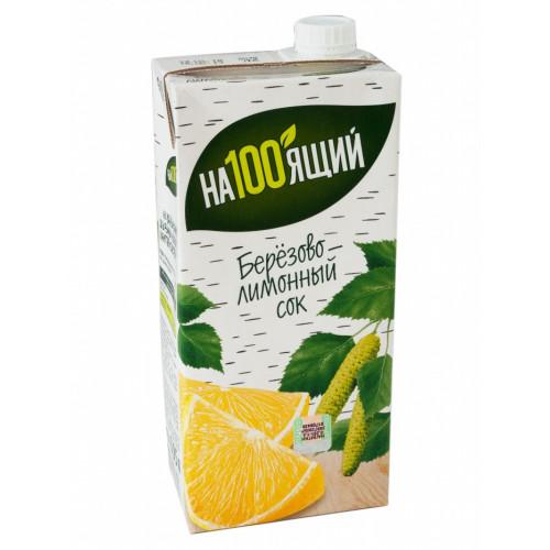 """Juice birch-lemon """"Nastoyaschiy"""", 1l"""