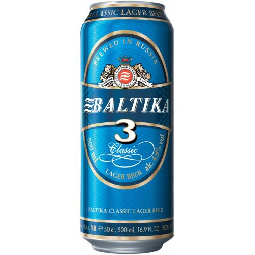 Пиво Балтика 3 в банке, 0.45л