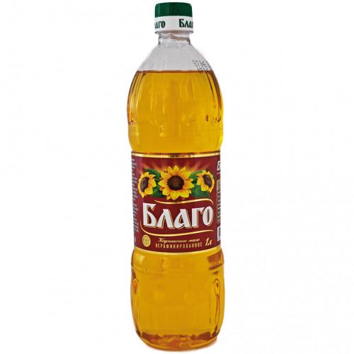 """Олія соняшникова нерафінована """"Благо"""", 1л"""