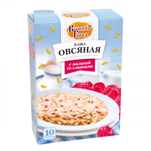 Oatmeal porridge with raspberries and cream, 410g