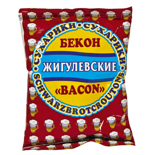 Zhigulevskie crackers with bacon flavor, 50g