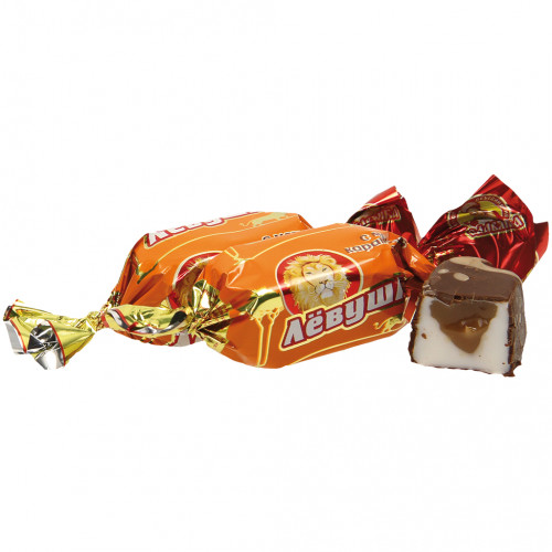 "Jelly candy ""Levushka"" with caramel flavor, in cocoa fat, 300g"