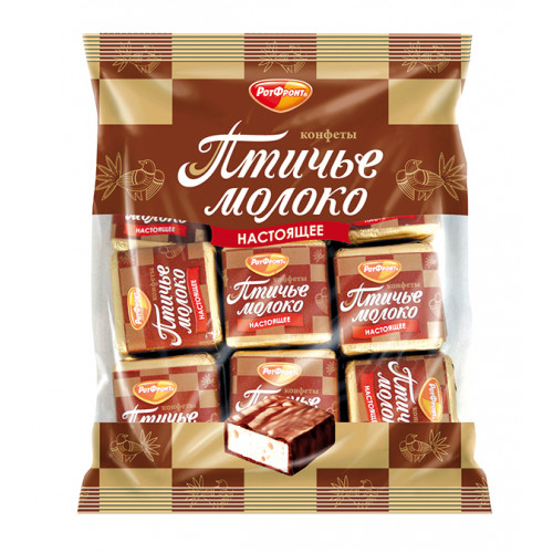 """Конфеты """"Птичье молоко"""" со сливочным вкусом в какаосодержащей глазури, 225 г"""