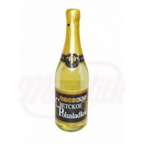 "Sparkling white wine ""Secular semi-sweet"""