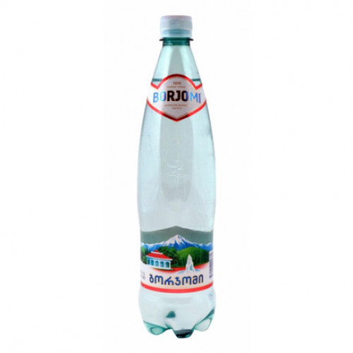 Borjomi mineral water in a plastic bottle, 1l