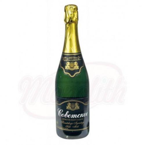 """Sparkling wine """"Soviet"""" semi-sweet 11.5% alc. 0,75l"""