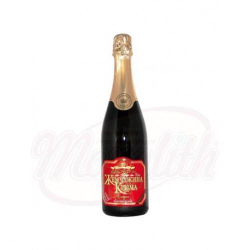 """Игристое вино """"Жемчужина Крыма"""" красное сладкое, 0,75л"""