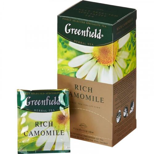 "Чай трав'яний Greenfield ""Rich Camomile"" в 25 пакетиках по 1.5г"