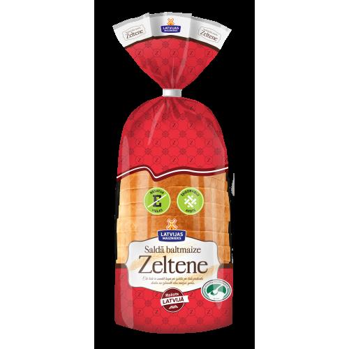 Латвийский белый сладкий хлеб Zeltene, 350г
