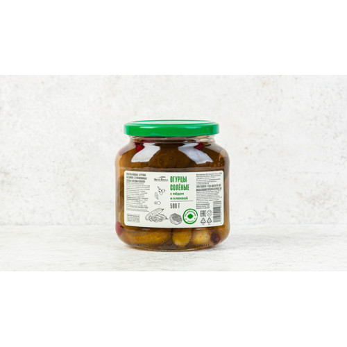 Pickled cucumbers with honey and cranberries Vkusvill, 500g