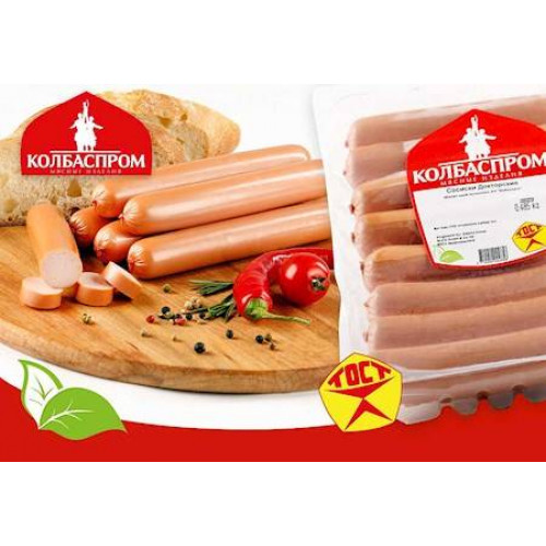 "Sausages ""Doctor"" Kolbasprom, 496g"