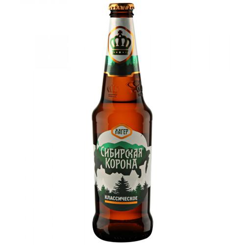 """Beer """"Siberian Crown"""" classic, 5.3%, 0.47l"""