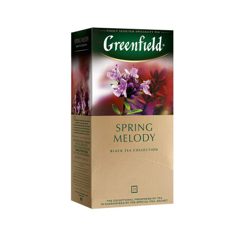"Greenfield tea ""Spring melody"" 25 sachets, 1.5g each"