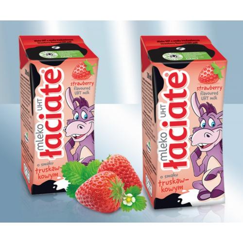 Нежирное детское молоко Laciate со вкусом клубники 1,5%, 200мл