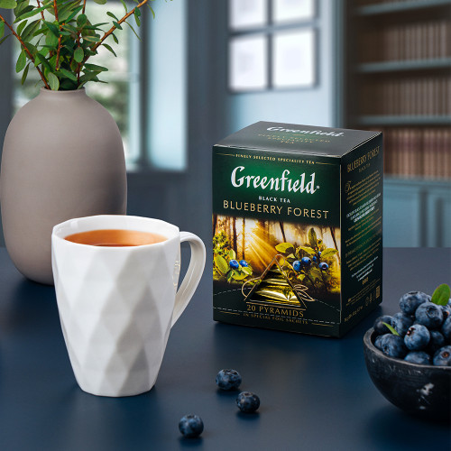 "Чай чорний Greenfield ""Blueberry forest"" в 20 пірамідках по 2г"