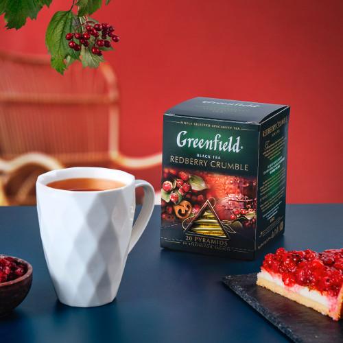 """Чай чорний Greenfield """"Redberry Crumble"""" в 20 пірамідках по 2г"""