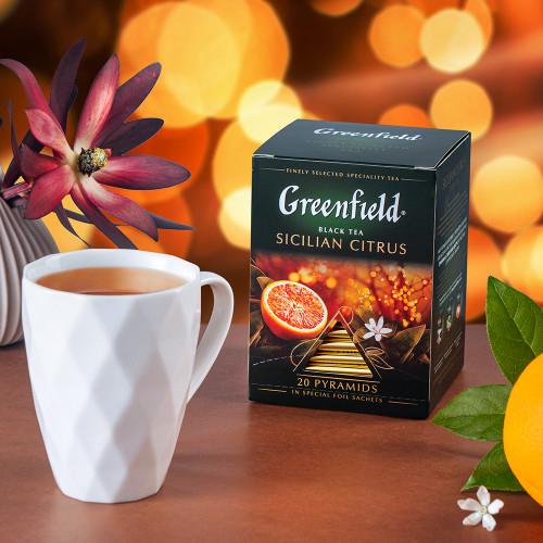 """Чай черный Greenfield """"Sicilian citrus"""" в 20 пирамидках по 2г"""