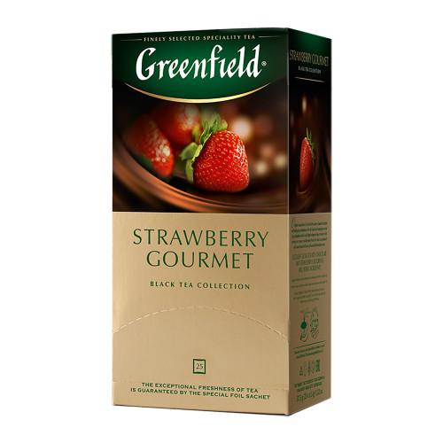 """Чай черный Greenfield """"Strawberry Gourmet"""" в 25 пакетиках по 1.5г"""