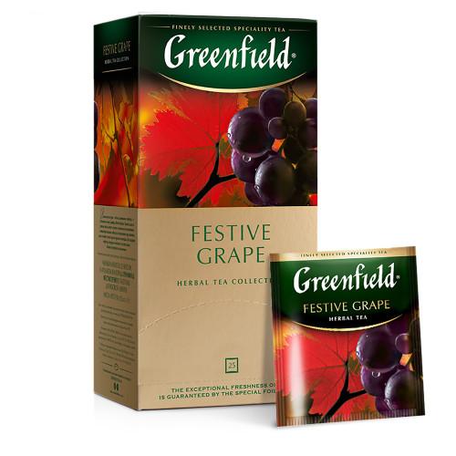 """Чайный фруктовый напиток Greenfield """"Festive grape"""" в 25 пакетиках по 2г"""