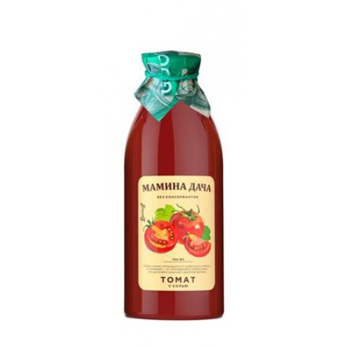 "Tomato nectar with pulp and salt ""Mother's dacha"", 0.75l"