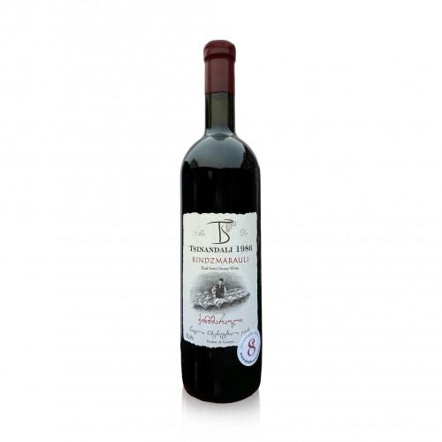 Georgische rode halfzoete wijn Tsinandali 1986 Kindzmarauli 2019