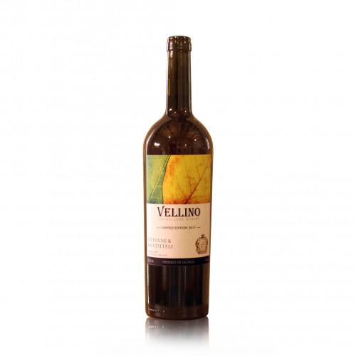 Грузинское оранжевое сухое вино Vellino Mtsvane & Rkatsiteli 2017