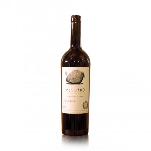 Грузинське червоне сухе вино Vellino Saperavi Qvevri 2018