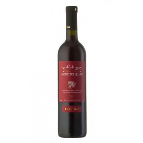 """Грузинське червоне напівсолодке вино Тбілвіно """"Алазанська долина"""""""