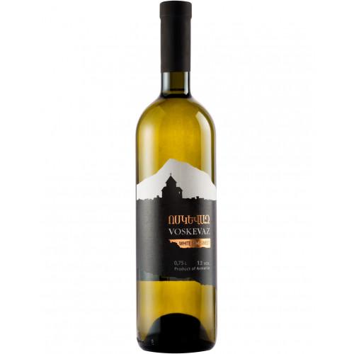 Армянское полусладкое белое вино Voskevaz