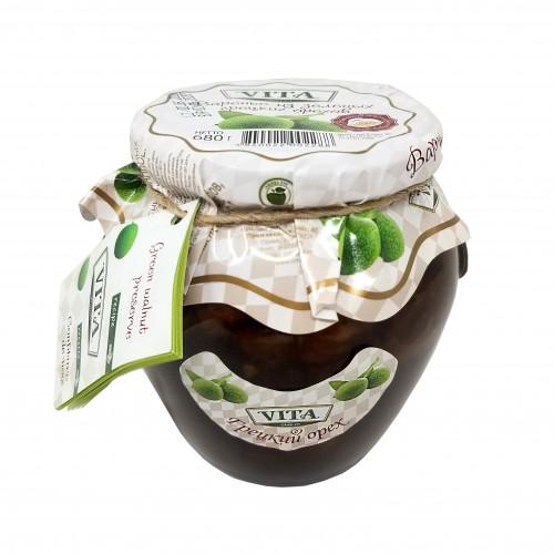 Варенье из зеленых грецких орехов Vita, 680г