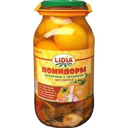 Canned Tomatoes Amber yellow with garlic Lidia, 1900ml